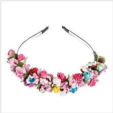 Bride Headband Flower Garland Floral Party Wedding Festival Decor Headband