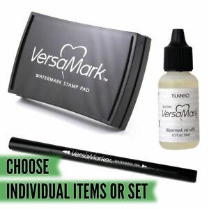 VERSAMARK Heat Embossing Kit / Large Ink Pad / Detail Pen / Pad Refill *CHOOSE*