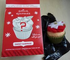 Hallmark Ornament Sweet Surprise mystery Green Christmas Cupcake Repaint 2014
