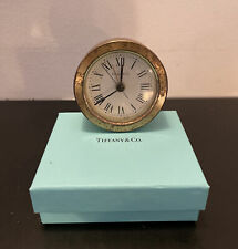 Tiffany & Co Collectible Circular Metal Table Clock - AS IS