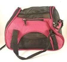 Pet Original Bag Dog Cat Small Pet Carrier Size Small up to 9 lbs Pink & Black