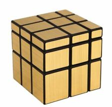 Rubik's Cube Magic Cube Mirror 3x3 Gold Black