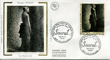 FRANCE FDC - 2693 1 GEORGES SEURAT - 13 Avril 1991 - LUXE sur soie