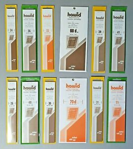 Hawid Stamp Mounts Strips - All x 210mm wide - Black or Clear - POST FREE - SAVE