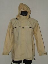Helly Hansen mens waterproof light yellow parkas jacket with hoody size S