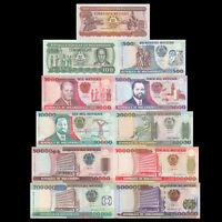 Mozambique Set 11 PCS, 50+100+500+10000-500000 Meticais, lot UNC