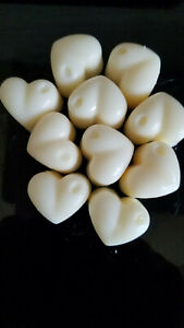 Highly Scented Wax Melts 6 x Large Heart Shape Melts 100% Soya Wax Free Delivery