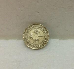 HONG KONG  KG VI  10 cents 1949  #2