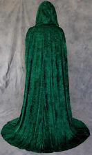 Green Velvet Cloak Cape Wedding Wicca Medieval LOTR SCA