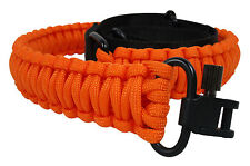 Gun Sling Blaze Orange 550 Paracord Rifle Shotgun Crossbow Adjustable Swivels