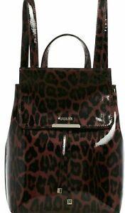 BRAND NEW GUESS Shiny Leopard Print Gold Backpack Satchel Handbag Purse