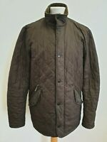 I286 MENS BARBOUR POLARQUILT BROWN COUNTRY DIAMOND QUILT JACKET UK M EU 50