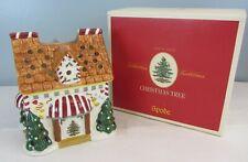 "NIB Spode Christmas 7"" Sweet Shop Candle Holder Votive Ceramic House Tea Light"