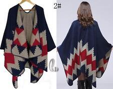 AU SELLER Blanket Poncho Cape Plaid Cloak Coat Warm Oversize SCARF/SHAWL sc072-2