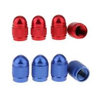 8x Bouchon de Valve Voiture Moto Pneu Soupape Tampon Capuchon Bleu+Rouge