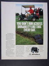 1991 lee trevino photo Motorola MicroTAC Cell Cellular Phone vintage print Ad