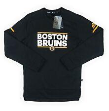 Adidas NHL Boston Bruins Player Crew Neck Sweatshirt Men's Sz S Black D78621