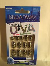 **LOOK** 2 Packs of Broadway Fashion Diva Medium Nails #55579 BGGD03 (Chrome)