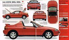 HONDA CIVIC DEL SOL SPEC SHEET/Brochure/Catalog:1995,..