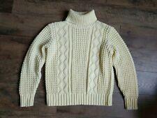 JADE Women's Sweater Turtleneck Chunky Knit Yellow Large Acrylic