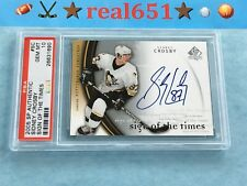 2005 SP Authentic Sign of the Times SIDNEY CROSBY on Rookie Auto PSA 10 | Pop 4