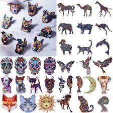 New Animal Dog Elephant Horse Charm Printing Flower Acrylic Brooch Pin 49 Styles