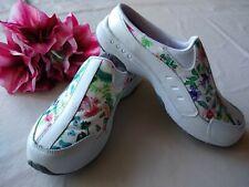 EASY SPIRIT TRAVEL TIME Women Leather Mule Shoe Slip-on Floral Sz.6.5
