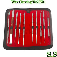 Dental Lab Stainless Steel Kit Wax Carving Tool Set Surgical Dental Ins WX-0031