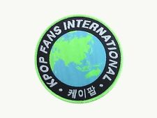 KPOP FANS INTERNATIONAL woven patch badge Korea K-pop for bag hat hoodie iron on
