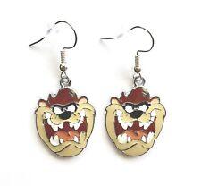 Looney Tunes Inspired Tasmanian Devil TAZ Character Dangle Hook Earrings Gift