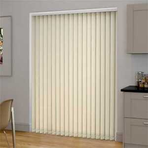 Complete Plain Oyster Ivory Cream Made To Measure Vertical Blind - Best Price