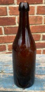 "Good Antique ""R. Dawson Pontiac Michigan"" Mold Blown Quart Beer Bottle"