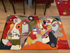 🔴 SILK Rug or wall hanging 5 x 3 Ft Hand woven from Kashmir India 6 to choose