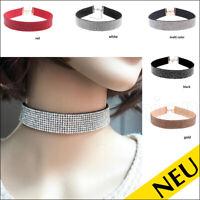 NEU 🌸 Statement STRASS Glitzer CHOKER Halsband PARTY Kropfband 🌸 Halskette