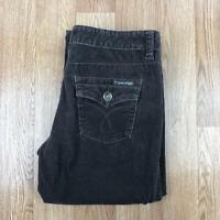 Vintage CALVIN KLEIN Womens FLARED Corduroy Trousers   Cords   UK 14 32/32 Brown