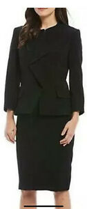 JOHN MEYER SKIRT SUIT/RETAIL$280/SIZE 20W/NEW WITH TAG/RED/RAFFLE &ZIPPER FRONT