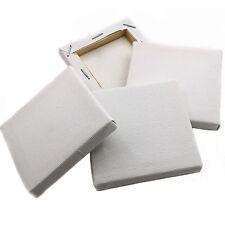 50 Bianco Tinta Unita Mini Piccolo Quadrato Acrilico Tela/pittura a olio Schizzo Disegno 7x7cm
