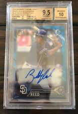 2016 Bowman Chrome Buddy Reed Blue /150 Wave Refractor Auto BGS 9.5/10