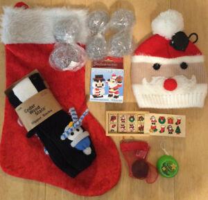 Novelty Christmas Bundle, Socks, Hat, Dominos