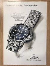 Omega Seamaster 1993 Advertisement Pub Ad Werbung