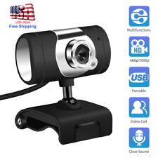 USB 2.0 HD Web Cam Camera Webcam & Microphone for Computer PC Laptop Desktop USA