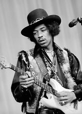 Jimi Hendrix Woodstock PHOTO 1969 Guitar Print Pic