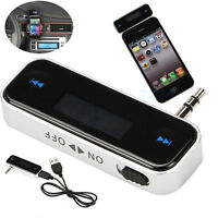 3.5MM AUX IN Jack FM Transmitter for iPhone 6S HTC M8 Samsung Galaxy S7 S8 Plus
