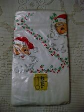 "Vintage Holiday Christmas Santa Paper Table Cloth Cover Beach Products 54"" X 96"""