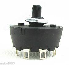 1 Pole 8 Way SP8T Rotary  Switch, 27mm Knob