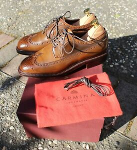 Carmina Armagnac Shell Cordovan Longwing Blucher 532 Detroit Size UK 5E US 6.5D