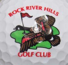 ROCK RIVER HILLS GOLF COURSE LOGO GOLF BALL