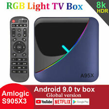 8K A95X F3 Android 9.0 TV Box S905X3 Quad-core 2.4G 5G WiFi Media Player D0S1