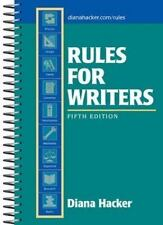 Rules for Writers, 5th Edition Hacker, Diana Spiral-bound
