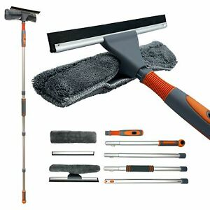 Professional Window Cleaning Kit Extendable Washing Pole Squeegee Conservatory